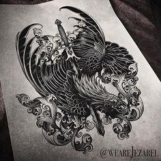 A2 project.  #wowtattoo #gothic #blackworkerssubmission #btattooing #darkart #vladblad #blxckink #blackart #darkartists