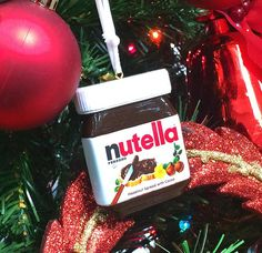 Nutella Christmas ornament!  http://boutique.nutellausa.com/ProductDetails.asp?ProductCode=More_Ornament
