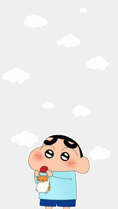 Cutie in cutie's hand Sinchan Wallpaper, Cute Pokemon Wallpaper, Cartoon Wallpaper Iphone, Cute Disney Wallpaper, Kawaii Wallpaper, Cute Cartoon Wallpapers, Sinchan Cartoon, Iphone Cartoon, Cute Cartoon Pictures