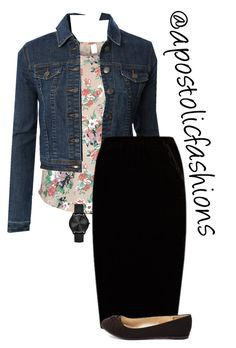 """Apostolic Fashions #1690"" by apostolicfashions on Polyvore featuring VILA, LE3NO, Jupe By Jackie, Charlotte Russe and Michael Kors"