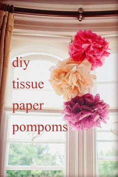 oh!myWedding: DIY Pompones de papel de seda / DIY Tissue Paper Pompoms