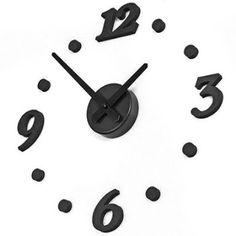 Amazon.com: DIY Design Art Foam Sponge Digit Wall Clock Black: Home & Kitchen