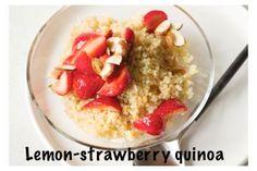 porridge di quinoa con fragole e mandorle