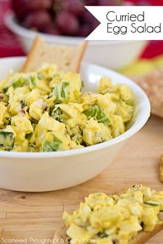 Ready to kick your Egg Salad Recipe up a notch? If you are a fan of curry, this Curried Egg Salad recipe is a MUST try!