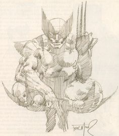 Wolverine sketch by Frank Miller, early 1980s