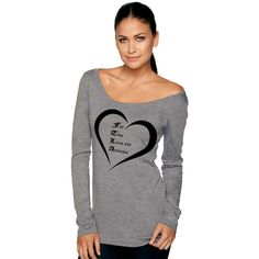 Off The Shoulder Triblend Scoop Neck Pullover - For The Love of Animals SM-2XL
