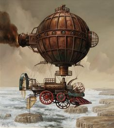 Cool Steampunk Artwork by artist Jarislaw Jasnikawski / when goth goes brown by concepcion Design Steampunk, Steampunk Kunst, Steampunk Artwork, Steampunk Airship, Steampunk Fashion, Steampunk Diy, Gothic Fashion, Diesel Punk, Zeppelin