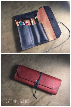 12Stones Leather personalised leather pencil case is made to last a life time using the highest grade of veg tanned leather which develops its own character with use.
