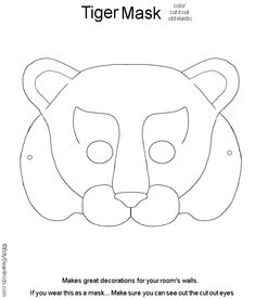 Fox Mask Template | animal masks for kids - printable animal masks children
