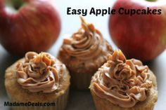 Easy to Make Apple Cupcakes Recipe #recipes