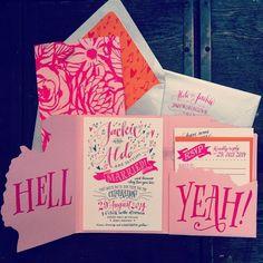 Pink Letterpress invitations