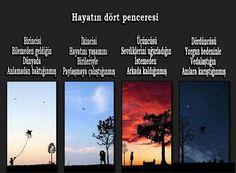 Hayatın dört penceresi...