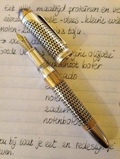 I love Montblanc pens ..craftsmanship is a lost art.