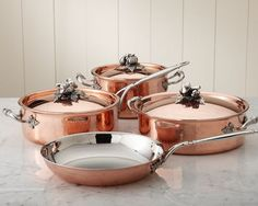 This is a picture for Carly who asked about copper cookware....the prettiest set I have ever seen