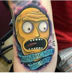 23 Rick and Morty Tattoos - The Body is a Canvas Pickle Rick Tattoo, Ricks Tattoo, Rick And Morty Tattoo, Most Popular Tv Shows, Summer Tattoo, Best Duos, Cartoon Tattoos, Adult Cartoons, Body Art
