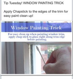 Window pane painting