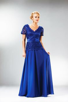 A Line/Princess V Neck Floor Length Mother Of The Bride Evening Long Prom Dress With Ruffle Lace