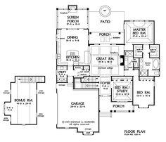 Floorplan The Marley House Plan #1285. Like Kitchen