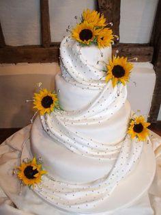 sunflower wedding cakes decor perfect!!!