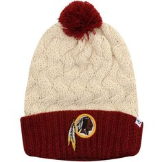 '47 Brand Washington Redskins Women's Matterhorn Cuffed Knit Hat -... ($24) ❤ liked on Polyvore featuring accessories, hats, natural, '47 brand, burgundy hat, 47 brand hats, knit hat and washington redskins hat