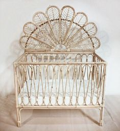 Peacock wicker rattan cane boho bassinet nursery baby cot bohemian neutral- so obsessed with this boho crib! - Peacock wicker rattan cane boho bassinet nursery baby cot bohemian neutral- so obsessed with this boho crib! Baby Room Boy, Baby Bedroom, Kids Bedroom, Master Bedroom, Baby Girls, Boho Nursery, Girl Nursery, Nursery Decor, Peacock Nursery