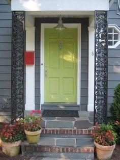 green front door?