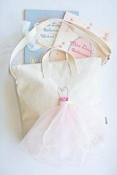 DIY Reusable Gift Bag Ballerina Tote Bag Canvas