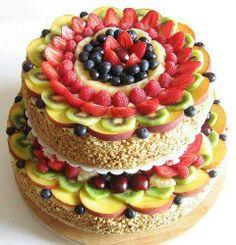 pastel con frutas...