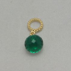 New Authentic Endless Mysterious Emerald  Drop designed by J.Lopez Gold Charm #Endless now available at Keswick Jewelers in Arlington Heights, IL 60005 P: 847.394.9365