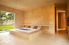 Contemporary Guest House- Sac Chich Hacienda by Reyes Ríos + Larraín Arquitectos Stone House, House Design, Hacienda Style, Guest House, House, Home, Elegant Homes, Concrete Bedroom, Modern