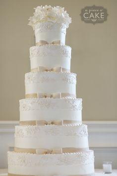 Gallery album : wedding - A Piece O' Cake Fancy Wedding Cakes, Beautiful Wedding Cakes, Gorgeous Cakes, Fancy Cakes, Amazing Cakes, Fondant Cakes, Cupcake Cakes, Cupcakes, White Cakes