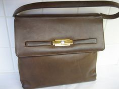 Authentic Vintage LOEWE 1846  Brown Leather Suede by CLASSYBAG