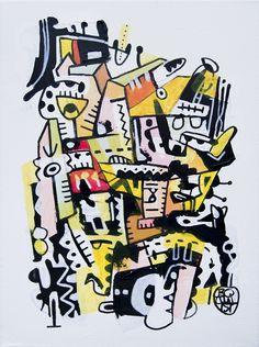 Olaf Boqwist, untitled, 30x40cm, mixed media on canvas  #boqwist #mixedmedia #mixedmedia #abstract #abstractart #abstractexpressionism #pattern #art www.boqwist.com