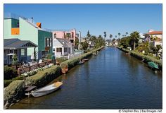 Venice canals. Venice, California, USA.