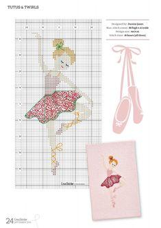 cross stitch #ballet #tutu #pink #girl #chart