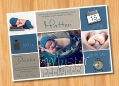Danksagungskarten Geburt Geburtskarte MUSTER 151 - Bild vergrößern