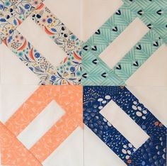 Hyacinth Quilt Designs: Like the block and the fabrics
