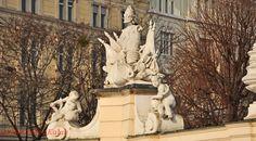Vienna/Belvedere Vienna, Lion Sculpture, Statue, City, Sculpture