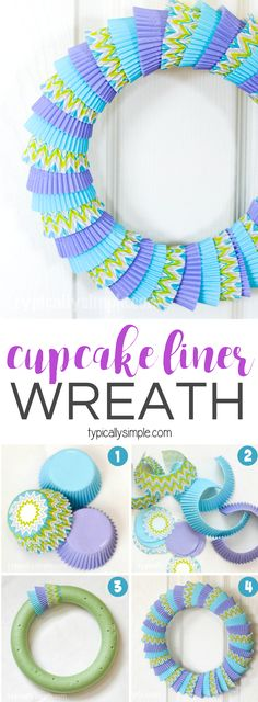 A simple craft using cupcake liners to make a bright, fun colored wreath! Use di… A simple craft using cupcake liners to make a bright, fun colored wreath! Use different colors and patterns for seasons, holidays, or celebrations! Arts And Crafts For Teens, Crafts For Seniors, Arts And Crafts Projects, Diy Projects, Easter Crafts, Diy And Crafts, Crafts For Kids, Simple Crafts, Cupcake Liner Crafts