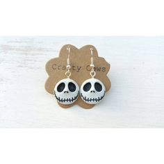 Nightmare before Christmas Jack Skellington face earrings Jack... (9.45 CAD) ❤ liked on Polyvore featuring jewelry, earrings, disney jewellery, button jewelry, earring jewelry, christmas earrings and button earrings