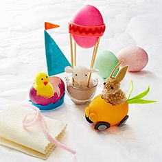 Modern Easter Egg Crafts: Egg Mobiles (via Parents.com)