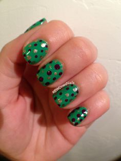 M is for Mardi Gras (ABC Nail Challenge 2014)