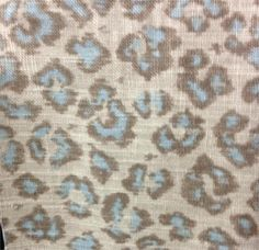 02100 Robins Egg Jaclyn Smith Home leopard fabric;
