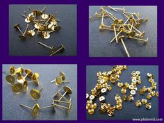 Flat Pad Earring Posts Gold Plated 4mm 6mm and by AliCsSupplyShop, $4.35
