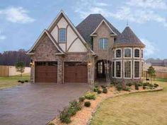 Attractive Stone and Glass Rotunda - 59913ND | 1st Floor Master Suite, Bonus Room, CAD Available, Den-Office-Library-Study, European, Jack & Jill Bath, PDF, Photo Gallery, Tudor | Architectural Designs