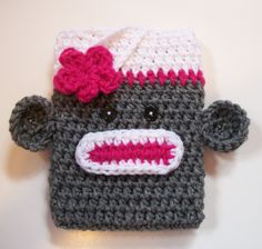 Crochet Sock Monkey Kindle Cover Fire Basic 4 by The5Princesses, $16.99