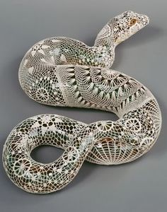 lace snake. tattoo idea.
