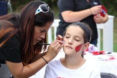 Face painting at Badgerville