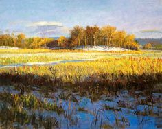 Peter Fiore Landscape Painting http://www.peterfiore.com/prints/late_day_winter_meadow_print.html