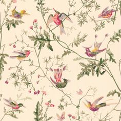 Humming Birds 62/1001 - Collection of flowers - Cole & Son
